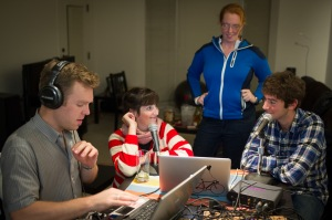The Spokespeople audio team hard at work