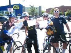 Kicking off the Inaugural Spokespeople Bike Ride in Sept. 2012.