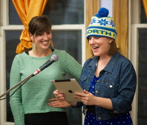 Zoe and Sara host Spokespeople